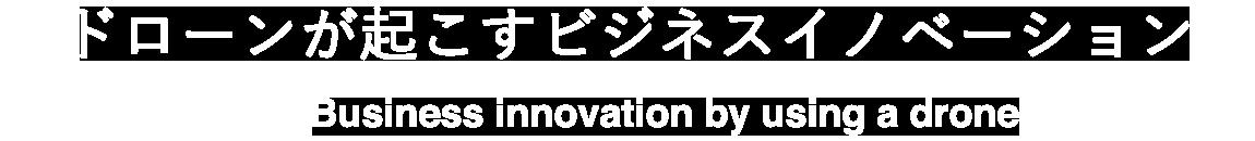 ドローンが起こすビジネスイノベーション